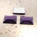 Light Amethyst Jewel Facet -12mm Square Cabochons - Lots of 144