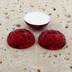 Ruby Jewel Baroque Domed - 11mm. Cabochons - Lot of 34