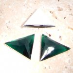Emerald Faceted - 18x18mm. Triangle Cabochons - Lots of 144