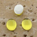 Lime Jonquil Jewel - 8x6mm. Oval Domed Cabochons - Lots of 144