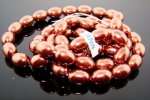 BRONZE 14X10MM OVAL SMOOTH JAPANESE PEARLS - Lot of 54