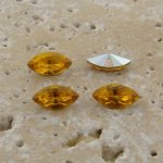 Jonquil Jewel - 10x5mm. Navette Faceted Gem Jewels - Lots of 144