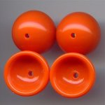 ORANGE 18MM ROUND BEAD CAPS - Lot of 12