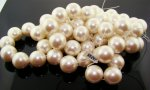 CULTURA 20MM ROUND SMOOTH JAPANESE PEARLS - Lot of 19