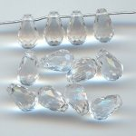 CRYSTAL 12X8MM MULTI FACETED TEAR DROP CHARMS - Lot of 144