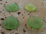 15mm. JADE SHINY MARBLE ROUND CABOCHONS - Lot of 48