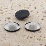 Hematite Opaque Multi Facet - 18mm Round Cabochons - Lots of 144