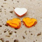Topaz Jewel Faceted - 15mm. Heart Domed Cabochons - Lots of 72