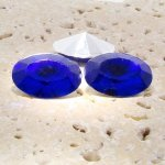 Sapphire Jewel - 18x13mm. Oval Faceted Gem Jewels - Lots of 144