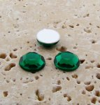 Emerald Jewel Faceted - 7mm. Round Cabochons - Lots of 144