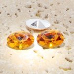 Madeira Topaz - 18x13mm. Oval Faceted Gem Jewels - Lots of 144