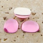 Rose Jewel - 15x11.5mm. Rectangle Domed Cabochons - Lots of 144