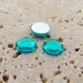 Blue Zircon Jewel Faceted - 11mm. Round Cabochons - Lots of 144
