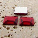 Ruby Jewel Faceted - 12mm. Square Domed Cabochons - Lots of 144