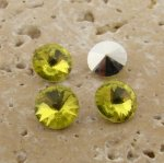 Lime Jonquil Jewel -8mm Round Rivoli Rhinestone Jewel-Lot of 144