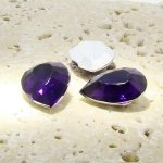 Amethyst Jewel - 25x18mm. Pear Faceted Gem Jewels - Lots of 72