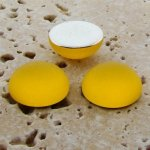 Jonquil Matte Frosted - 13mm Round Domed Cabochons - Lots of 144