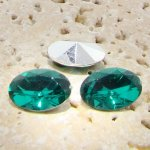 Teal Jewel -18x13mm. Oval Faceted Gem Jewels - Lots of 144
