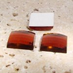 Topaz Jewel Faceted - 25mm. Square Domed Cabochons - Lots of 72