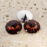 Topaz Jewel - 8mm. Round Rivoli Rhinestone Jewels - Lots of 144