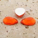 Orange Jewel Faceted - 25x18mm. Pear Cabochons - Lots of 72