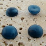 13mm. CAPRI MATTE MARBLE ROUND CABOCHONS - Lot of 48