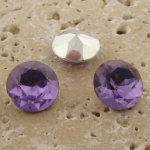 Lt Amethyst - 13mm Round Table Top Rhinestone Jewel - Lot of 144