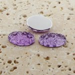 Light Amethyst Baroque - 18x13mm. Oval Cabochons - Lots of 144