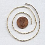 CABLE BRASS BEADING 2MM. VINTAGE CHAIN - PRICED PER FOOT