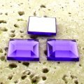 Violet Jewel Faceted - 12mm. Square Cabochons - Lots of 144