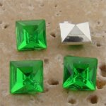 Peridot Jewel - 6x6mm. Square Faceted Gem Jewels - Lots of 144
