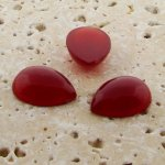 Cornelian Opaque - 18x13mm. Pear Domed Cabochons - Lots of 144