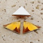 Madeira Topaz Facet - 18x18mm Triangle Cabochons - Lots of 144
