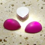Fuchsia Matte Frosted - 18x13mm. Pear Cabochons - Lots of 144