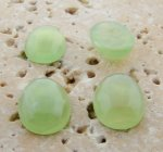14X10mm. JADE SHINY MARBLE OVAL CABOCHONS - Lot of 48