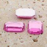 Rose Jewel Faceted- 25x18mm. Octagon Cabochons - Lots of 72
