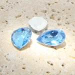 Light Sapphire - 25x18mm. Pear Faceted Gem Jewels - Lots of 72