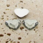 Black Diamond Jewel Faceted - 15mm Heart Cabochons - Lots of 144