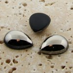 Hematite - 25x18mm. Pear Domed Cabochons - Lots of 72