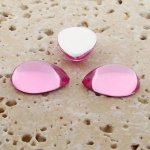 Rose Jewel - 13x8.5mm. Pear Domed Cabochons - Lots of 144