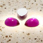Fuchsia Jewel - 25x18mm. Pear Domed Cabochons - Lots of 72