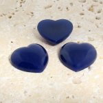 Lapis Opaque Smooth - 18mm. Heart Domed Cabochons - Lots of 144