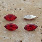 Ruby Jewel - 10x5mm. Navette Faceted Gem Jewels - Lots of 144