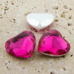 Rose Jewel - 18mm. Heart Faceted Gem Jewels - Lots of 144