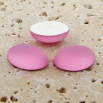 Rose Matte Frosted - 8x6mm. Oval Domed Cabochons - Lots of 144