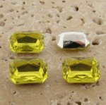 Lime Jonquil Jewel -14x10mm Octagon Faceted Gem Jewel-Lot of 144