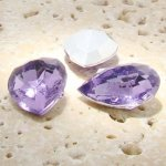 Light Amethyst - 25x18mm. Pear Faceted Gem Jewels - Lots of 72