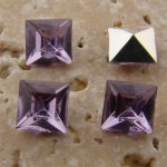 Lt Amethyst Jewel - 6x6mm Square Faceted Gem Jewel - Lots of 144