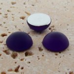 Amethyst Matte Frosted - 11mm Round Domed Cabochons - Lot of 144