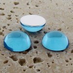 Light Sapphire Jewel - 25mm. Round Domed Cabochons - Lots of 72